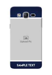 Samsung Galaxy On5 (2015) Simple Blue Colour Mobile Cover Design