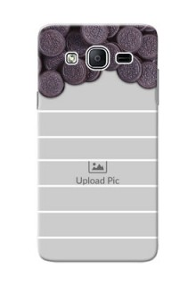 Samsung Galaxy On5 (2015) oreo biscuit pattern with white stripes Design Design