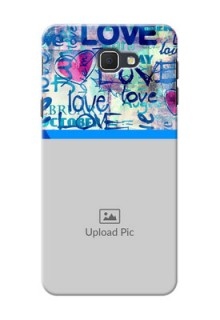 Samsung Galaxy On5 (2016) Colourful Love Patterns Mobile Case Design