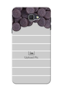 Samsung Galaxy On5 (2016) oreo biscuit pattern with white stripes Design Design