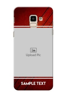 Samsung Galaxy On6 (2018) Leather Picture Upload Mobile Case Design