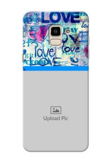 Samsung Galaxy On6 (2018) Colourful Love Patterns Mobile Case Design