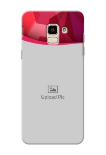 Samsung Galaxy On6 (2018) Red Abstract Mobile Case Design