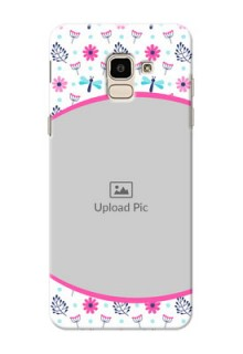 Samsung Galaxy On6 (2018) Colourful Flowers Mobile Cover Design