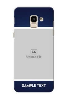 Samsung Galaxy On6 (2018) Simple Blue Colour Mobile Cover Design