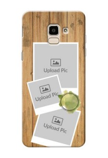 Samsung Galaxy On6 (2018) 3 image holder with wooden texture  Design
