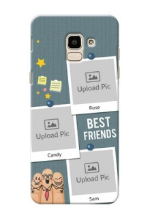 Samsung Galaxy On6 (2018) 3 image holder with sticky frames and friendship day wishes Design