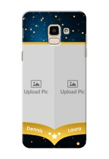 Samsung Galaxy On6 (2018) 2 image holder with galaxy backdrop and stars  Design