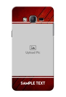 Samsung Galaxy On7 (2015) Leather Design Picture Upload Mobile Case Design