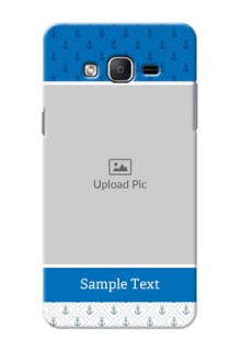Samsung Galaxy On7 (2015) Blue Anchors Mobile Case Design