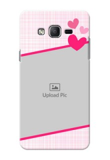 Samsung Galaxy On7 (2015) Pink Design With Pattern Mobile Cover Design