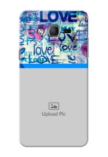 Samsung Galaxy On7 (2015) Colourful Love Patterns Mobile Case Design