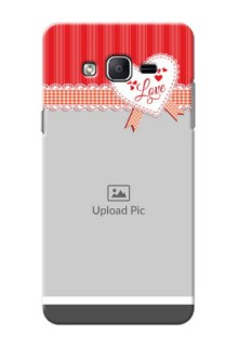 Samsung Galaxy On7 (2015) Red Pattern Mobile Cover Design