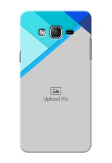 Samsung Galaxy On7 (2015) Blue Abstract Mobile Cover Design