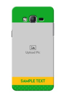 Samsung Galaxy On7 (2015) Green And Yellow Pattern Mobile Cover Design