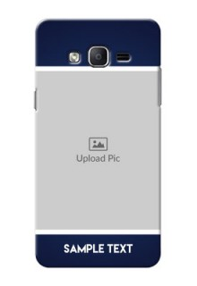 Samsung Galaxy On7 (2015) Simple Blue Colour Mobile Cover Design