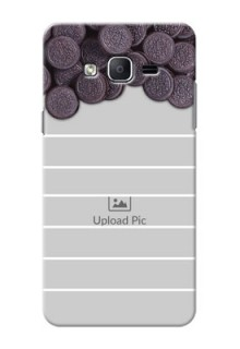 Samsung Galaxy On7 (2015) oreo biscuit pattern with white stripes Design Design