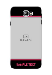 Samsung Galaxy On7 (2016) Photo With Text Mobile Case Design