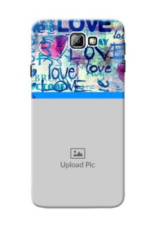 Samsung Galaxy On7 (2016) Colourful Love Patterns Mobile Case Design