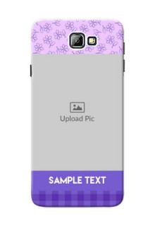 Samsung Galaxy On7 (2016) Floral Design Purple Pattern Mobile Cover Design