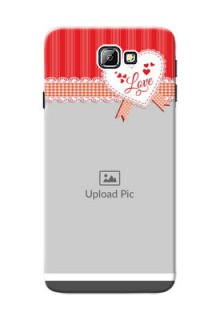Samsung Galaxy On7 (2016) Red Pattern Mobile Cover Design