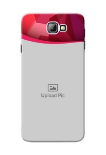 Samsung Galaxy On7 (2016) Red Abstract Mobile Case Design