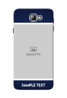 Samsung Galaxy On7 (2016) Simple Blue Colour Mobile Cover Design