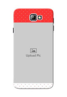 Samsung Galaxy On7 (2016) Red Pattern Mobile Case Design