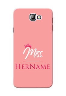 Galaxy On7 (2016) Custom Phone Case Mrs with Name