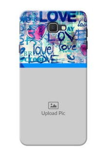 Samsung Galaxy On7 Prime Colourful Love Patterns Mobile Case Design