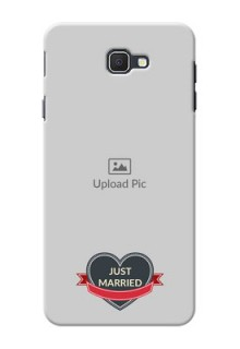 Samsung Galaxy On7 Prime Just Married Mobile Cover Design