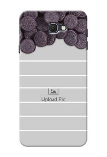 Samsung Galaxy On7 Prime oreo biscuit pattern with white stripes Design Design