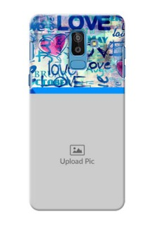 Samsung Galaxy On8 (2018) Colourful Love Patterns Mobile Case Design