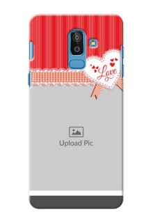 Samsung Galaxy On8 (2018) Red Pattern Mobile Cover Design