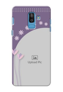 Samsung Galaxy On8 (2018) lavender background with flower sprinkles Design
