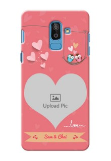 Samsung Galaxy On8 (2018) heart frame with love birds Design
