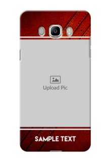 Samsung Galaxy On8 (2016) Leather Design Picture Upload Mobile Case Design