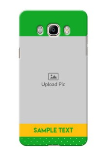 Samsung Galaxy On8 (2016) Green And Yellow Pattern Mobile Cover Design