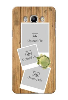 Samsung Galaxy On8 (2016) 3 image holder with wooden texture  Design