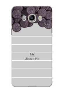 Samsung Galaxy On8 oreo biscuit pattern with white stripes Design Design