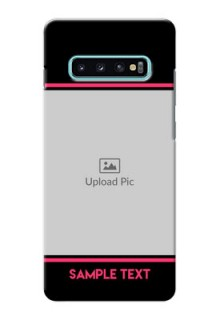 Samsung Galaxy S10 Plus Mobile Covers With Add Text Design