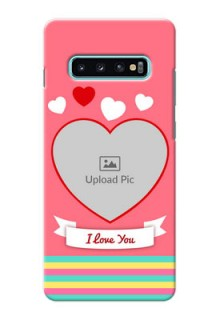 Samsung Galaxy S10 Plus Personalised mobile covers: Love Doodle Design