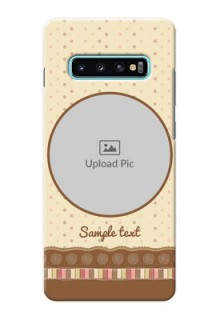 Samsung Galaxy S10 Plus Mobile Cases: Brown Dotted Mobile Case Design