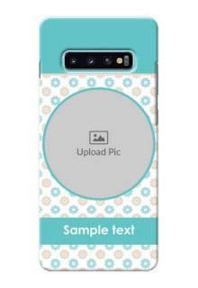 Samsung Galaxy S10 Plus Custom Mobile Back Covers: Beautiful Flowers Design