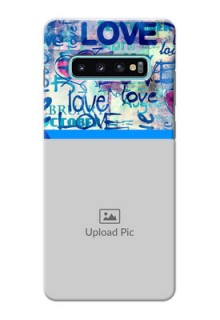 Samsung Galaxy S10 Plus Mobile Covers Online: Colorful Love Design
