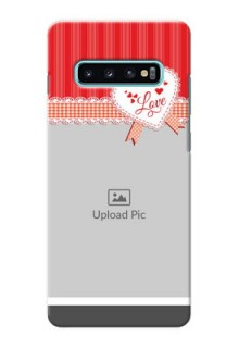 Samsung Galaxy S10 Plus phone cases online: Red Love Pattern Design