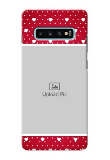 Samsung Galaxy S10 Plus custom back covers: Hearts Mobile Case Design