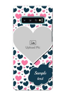 Samsung Galaxy S10 Plus Mobile Covers Online: Pink & Blue Heart Design