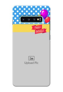 Samsung Galaxy S10 Plus custom mobile back covers: Happy Birthday Design