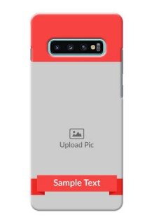 Samsung Galaxy S10 Plus Personalised mobile covers: Simple Red Color Design